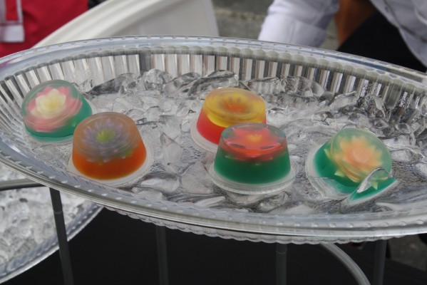 These tequila jelly shots designed by Sweets Collections are like belles of the ball with a bit of a naughty side. Photo by Dan Hirsch.