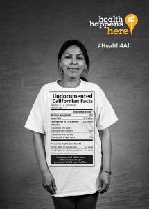 The California Endowment speaks up for undocumented immigrants who won't be eligible for the Affordable Care Act. Photo courtesy of the California Endowment.