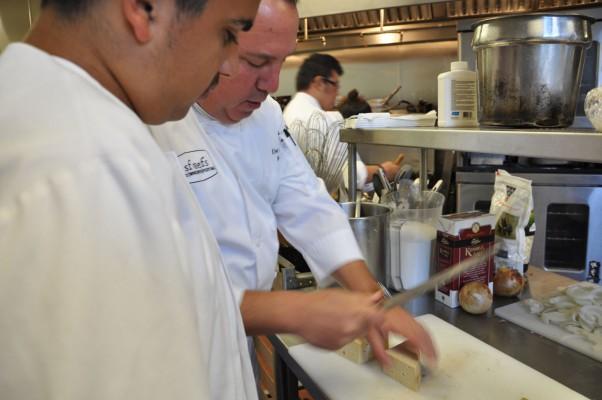 """Chef Dan Scherotter explaining the proper method for handling """"stinky cheese."""""""