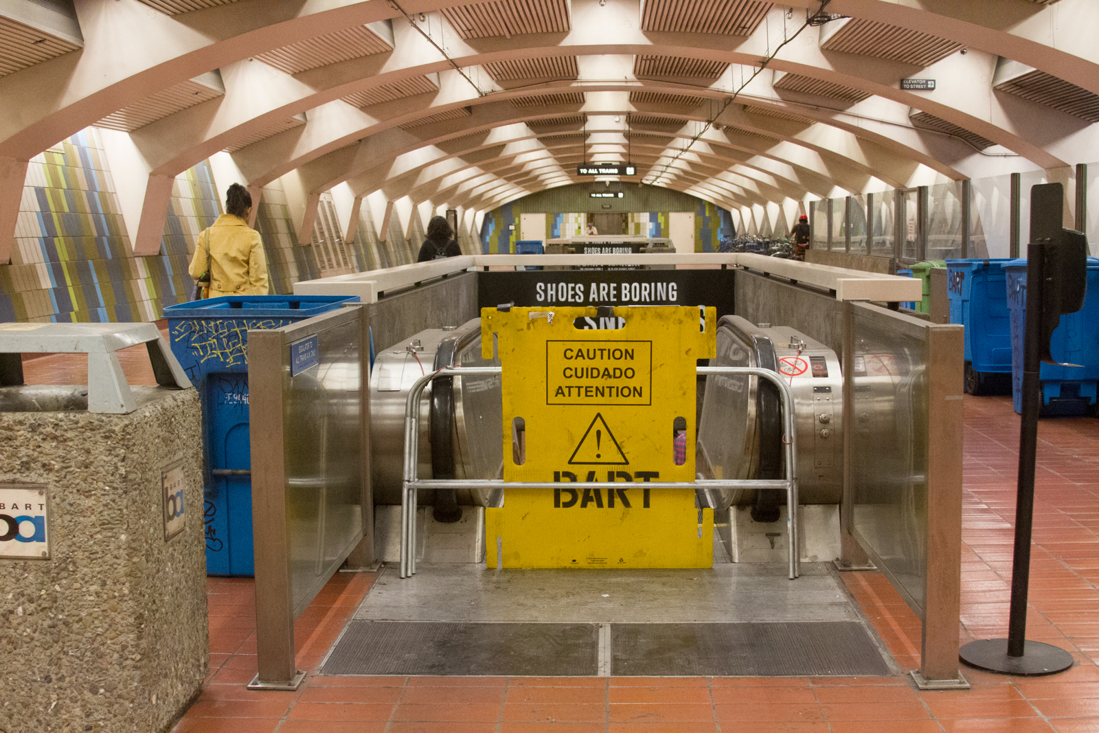 Escalator Gone Bust at 16th Street BART