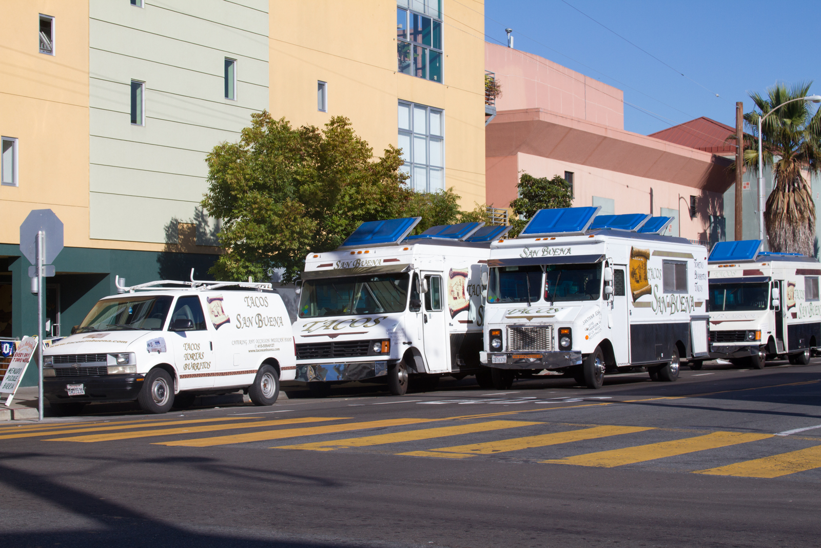 Loading up taco trucks to head out for the day. Photo by Courtney Quirin.