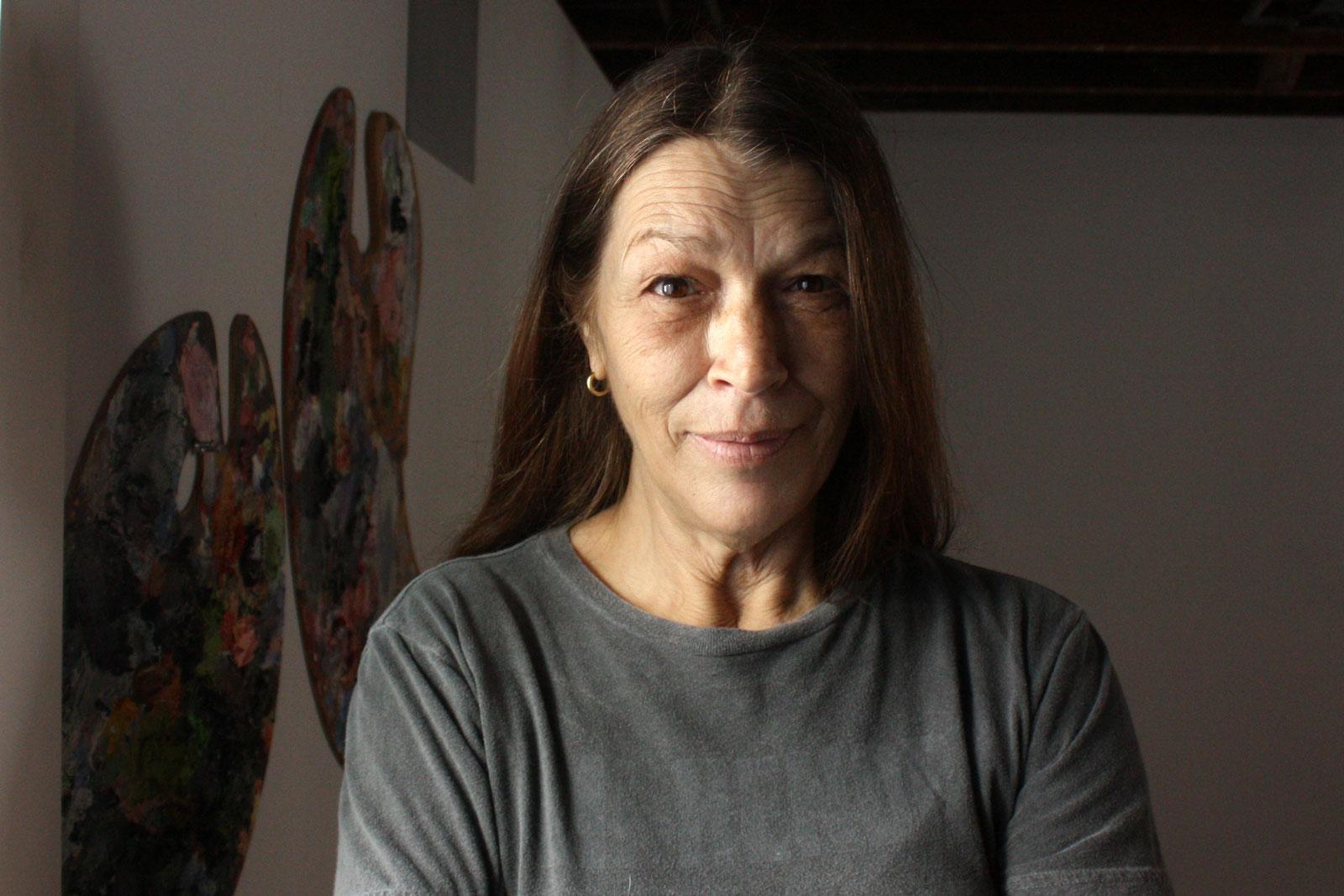 Thomasina DeMaio at her Ingleside Terraces art studio. Photo by Emily Gibson.
