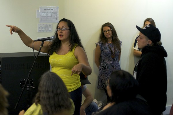 Mission residents share comments at a September 23 community discussion on gentrification.