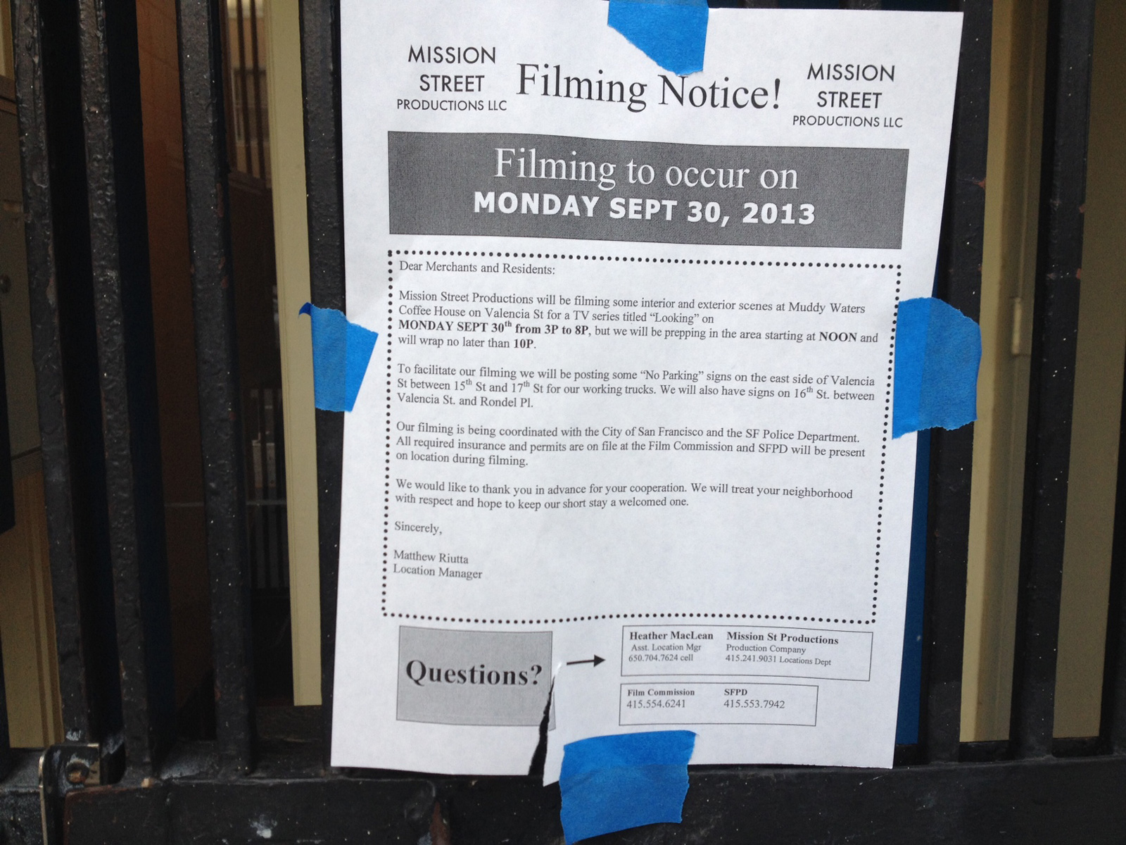 HBO Returns to the Mission
