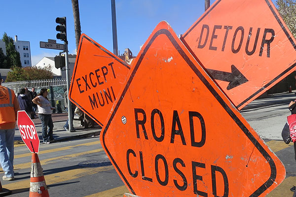 Two Blocks of 24th Street Closed