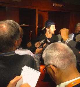 Zito with the press.