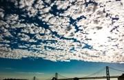 Clouds over Bay Bridge.