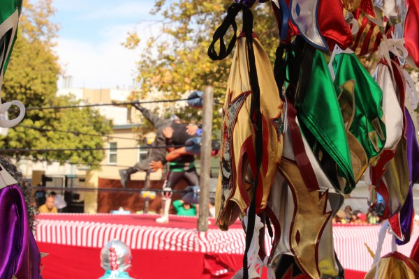 The Lucha Libre wrestling fundraiser at Marshall Elementary was a creative, popular event. Photo by Heather Mack.