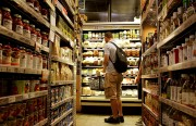 A local shopper peruses the gourmet selections at Bi-Rite Market. Photo: Sarah McClure