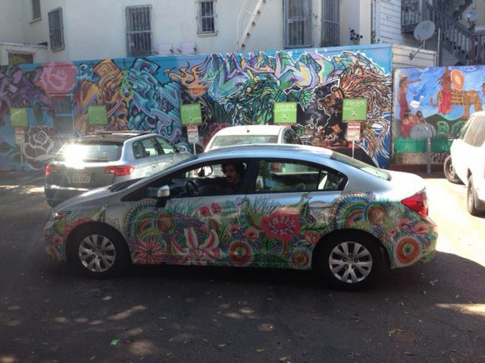 Local Artist Bedazzles a Zipcar – designed by Emily Glaubinger