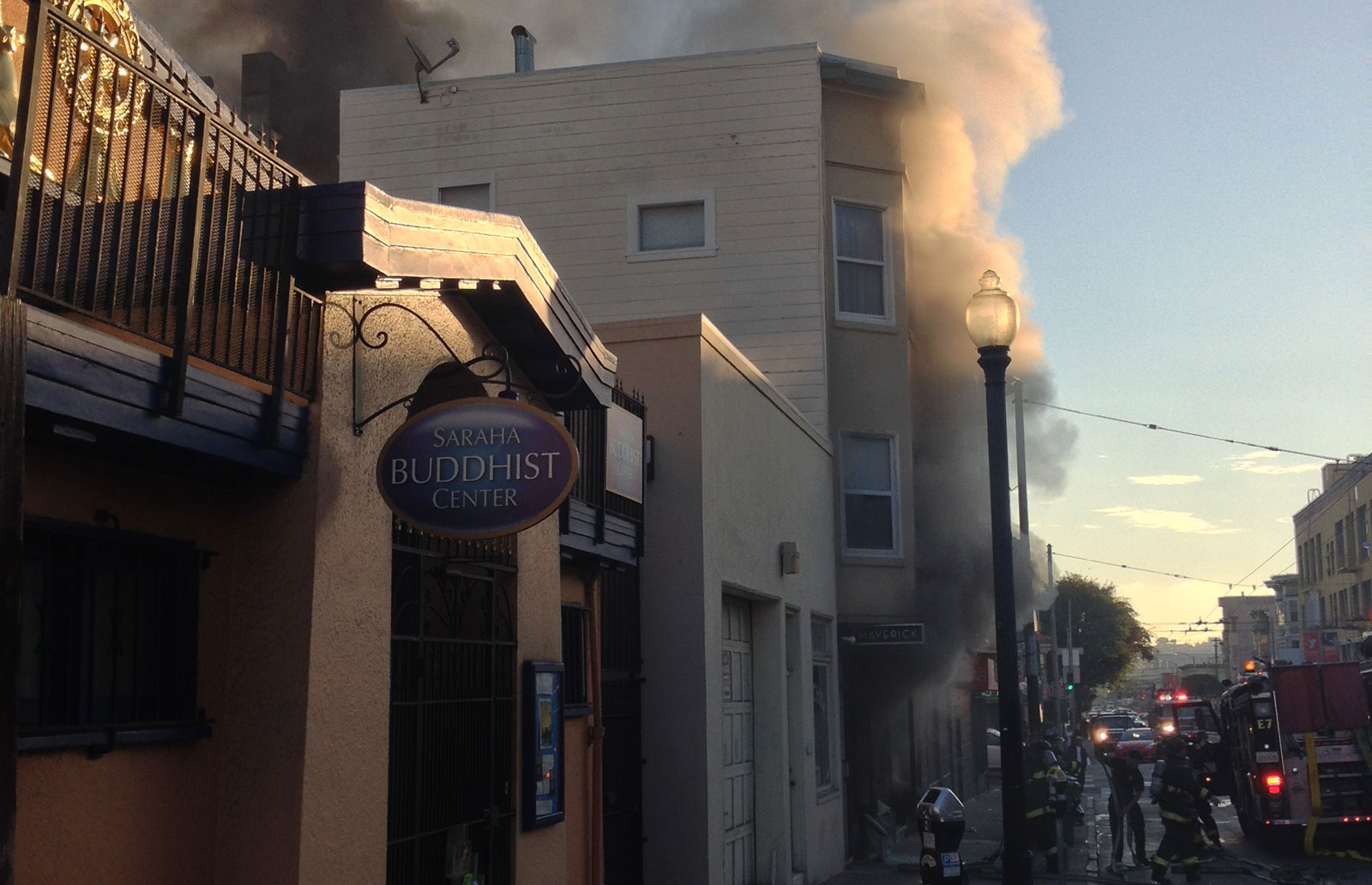 Maverick Restaurant Ablaze in Mission Fire