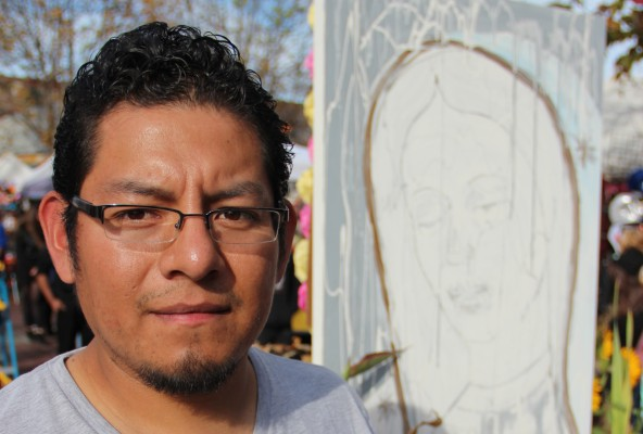 """Community activist Jose Cruz said the annual Dia de los Muertos procession was """"changing same as the neighborhood,"""" and wants the Latino community to """"take our traditions back."""""""