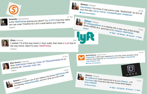 A bevy of commuters explode on the Twittersphere following last Friday's BART strike. Photo: Sarah McClure