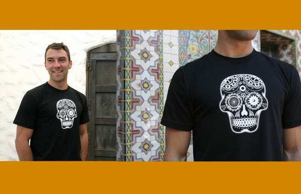 This year, Mission Bicycle Company is offering its first line of Día de los Muertos T-shirts. Images courtesy of Mission Bicycle Company
