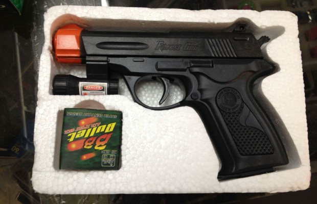 A BB gun for sale at A & A Bargain Store on Mission.