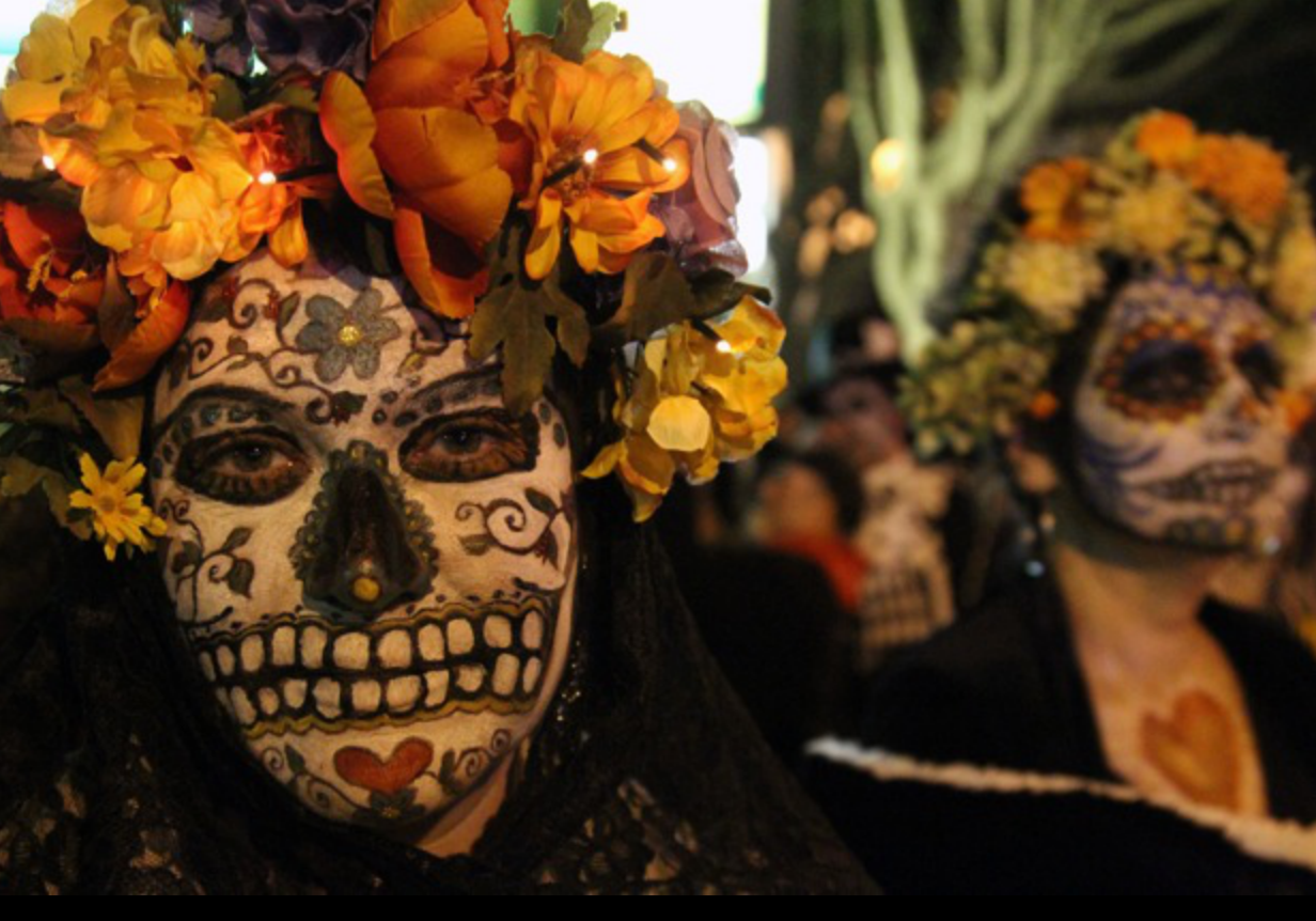 Día de Los Muertos Procession, Anti-Evictions Protest