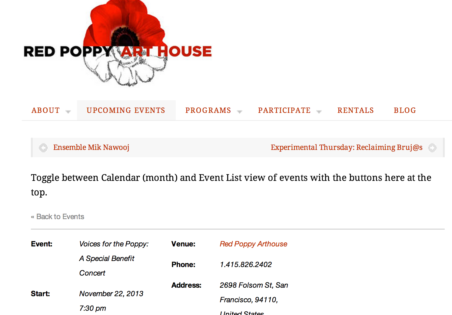 Don't Forget! Red Poppy Art House Benefit Tonight