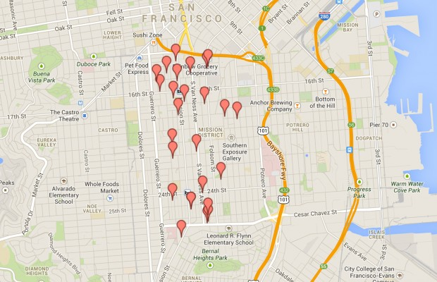 All of the automotive repair shops in the Mission District. Was a shop forgotten? E-mail alexander.mullaney@missionlocal.org to have it added.