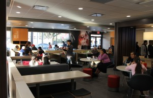 Interior of McDonald's on 24th and Mission following renovations.