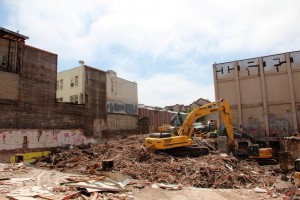 Demolition site where Giant Value used to stand. Photo by Molly Oleson.