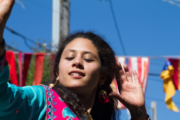 Bhangra dancing at the Elsie Street Block Party, September 2013. Photo by Courtney Quirin.