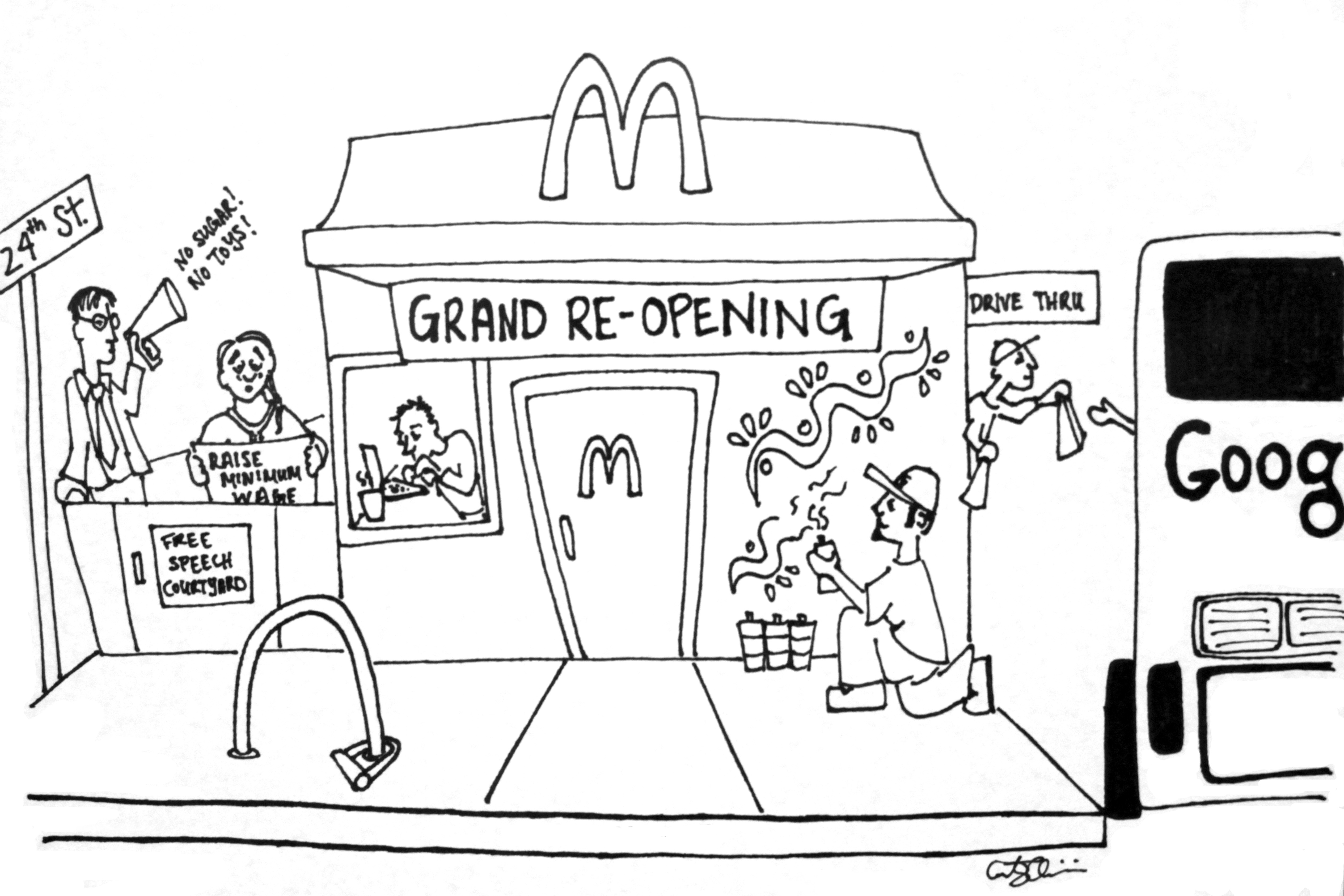 McDonald's Grand Re-Opening: 24th-Mission Style