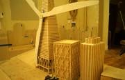 """""""TransAmerica Windmill"""" under construction. Courtesy of Steve Fox of Urban Putt."""