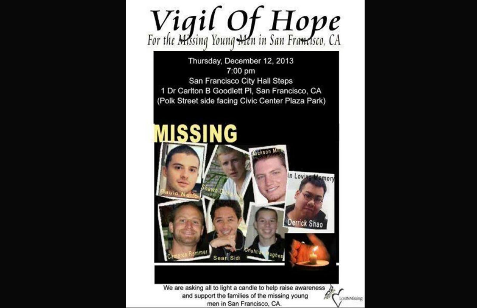 Commemorate Those Still Missing at Candlelight Vigil This Thursday