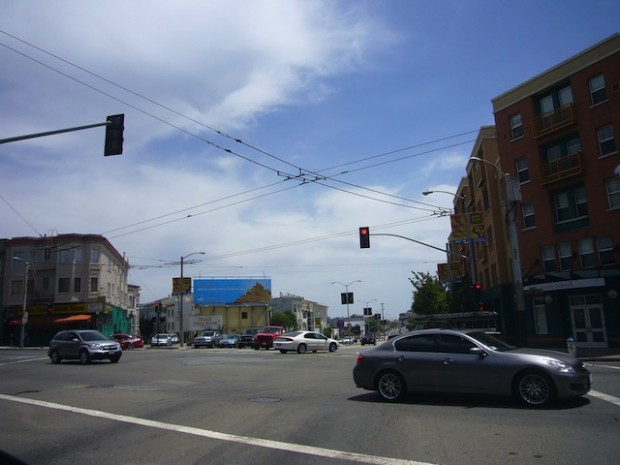 Mission and Cesar Chavez, what could soon be the marker of a new business and nightlife destination. via Libby