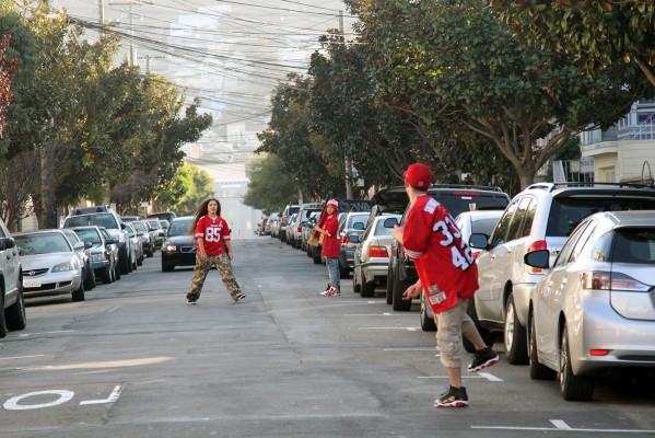 Fans took over Shotwell Street.