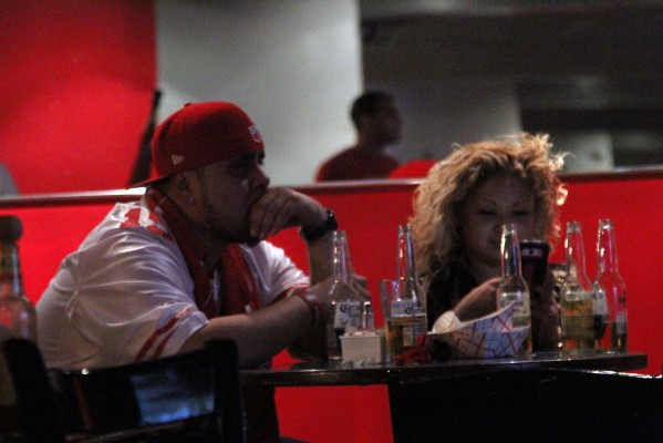 Fans cleared the bar after the 49ers lost to the Seattle Seahawks to advance to the Super Bowl.