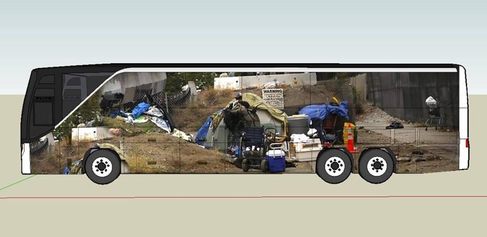 Homeless Encampment by Stephanie Syuco and Adriana Camarena
