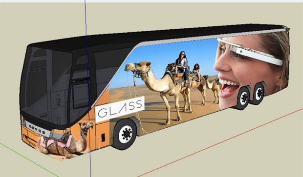 People Riding Camels with Google Glass. By Maria Mortati