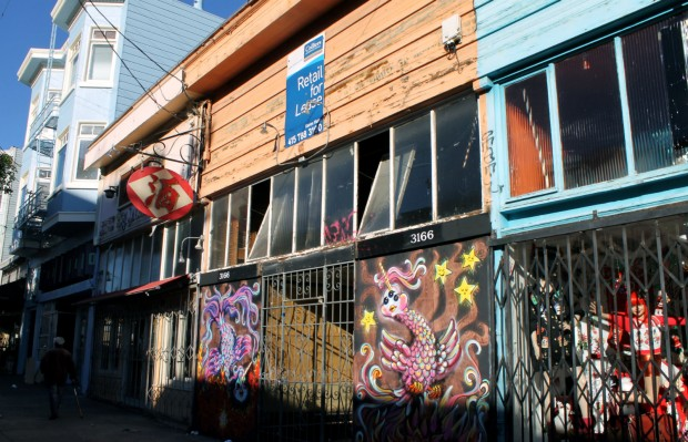 The neglected storefront on  16th that could have been a Jack Spade. Photo by Daniel Hirsch.