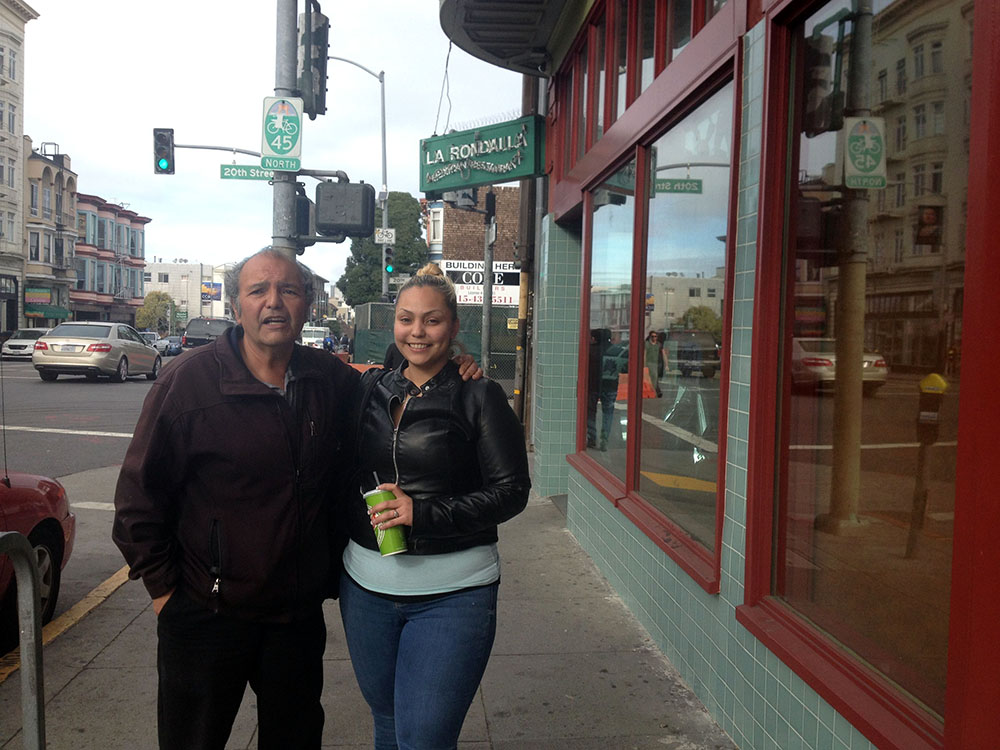 Carlos Barrios and his daughter Betty.