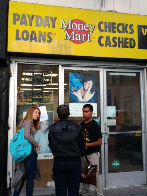 New ERA students conducting survey about payday loans. Photo by Dairo Romero.