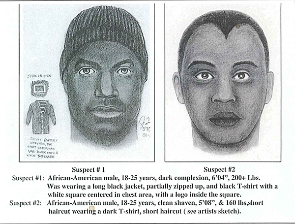 Sketches of suspects in the 2007 murder of Alberto Casillas. Image provided by SFPD.