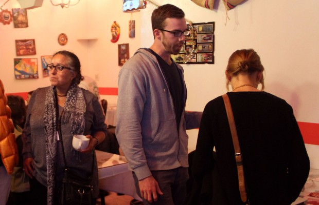 Christina Olague (left) and Chris Murphy (center) are Engage SF's principal organizers. Photo by Daniel Hirsch.
