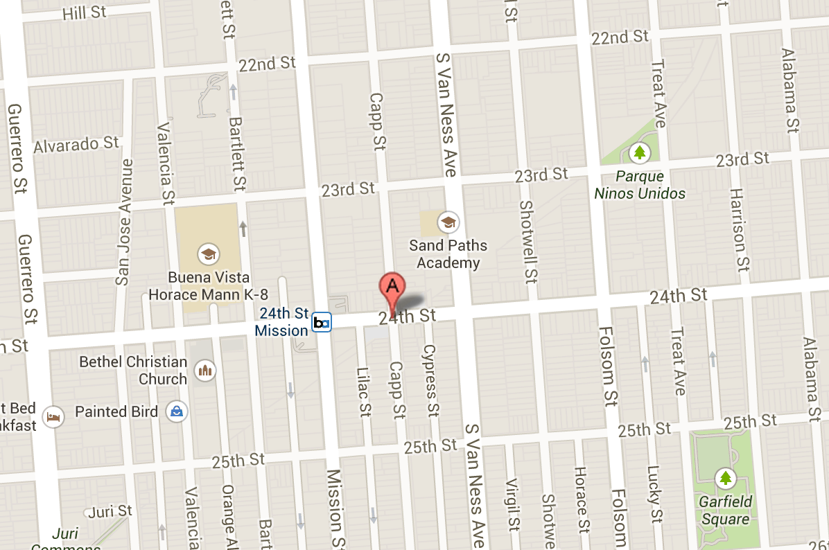 A. 900 Capp Street where suspects robbed a two year old passenger and the driver of a car.