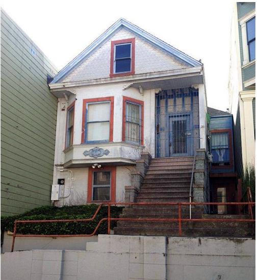 The house at 29 Dorland. Photo from SocketSite.