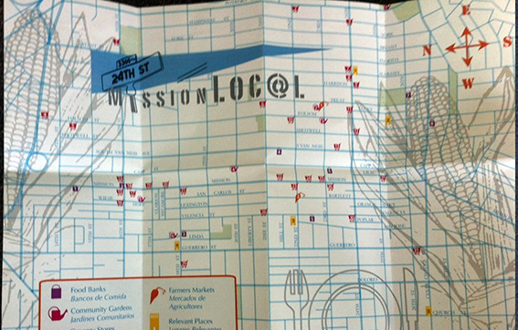 We used our bilingual food map created by Molly Roy for outreach.