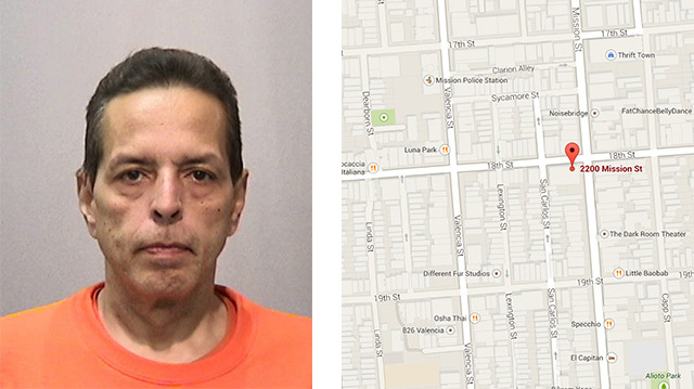 Suspect Fernando Sylvestry was arrested on Tuesday on Mission near 18th Street.
