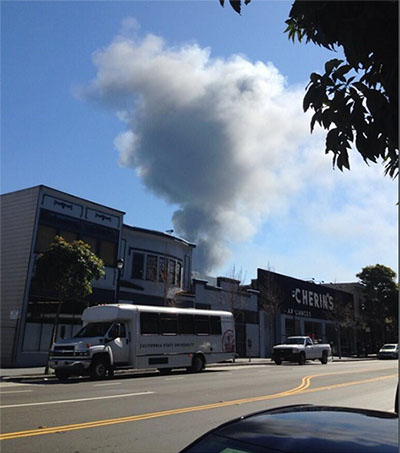 Fire in Bayview Seen from the Mission