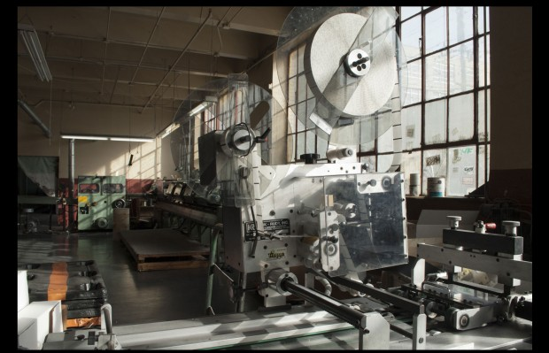 The huge printing presses took up an entire floor of the large warehouse at 298 Alabama. Photo by Sean Dana.