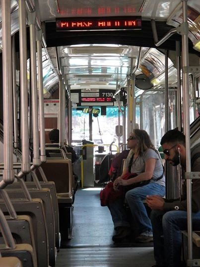 Riding the 49 bus along Mission St.