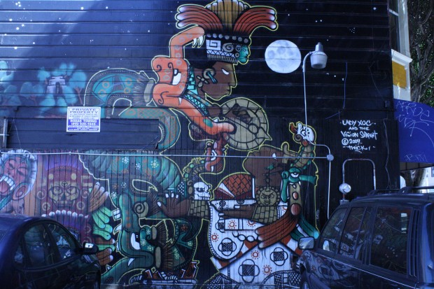 One of the many murals on 24th St.