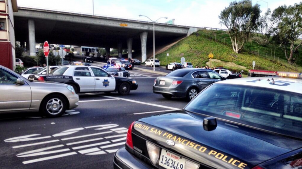 The scene earlier in the day in Daly City. Photo by Sergio Quintana @svqjournalist