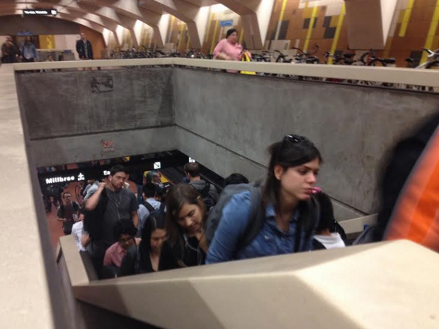 The delays are felt in the Mission District. Photo by Lydia Chavez.
