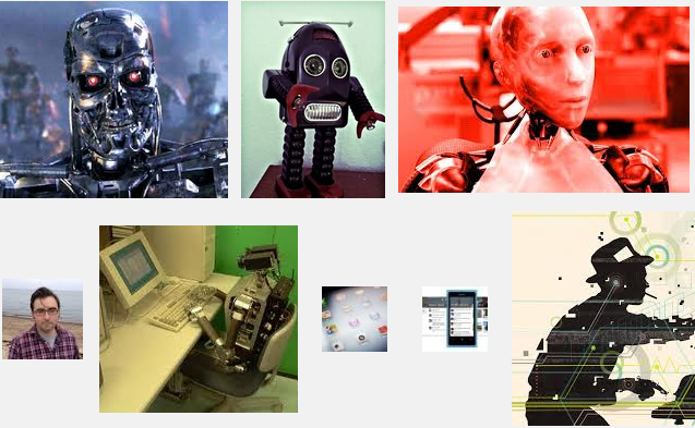 Screen grab from Google search Robo Journalism