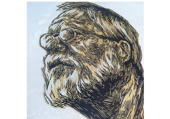 Swoon's father Milton by Swoon. Courtesy of Mullowney Printing.